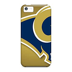 Anti-Scratch Hard Phone Covers For Iphone 5c With Customized Beautiful St. Louis Rams Pattern CharlesPoirier