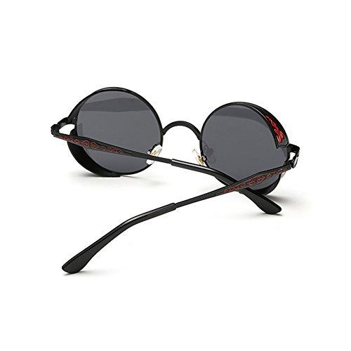 cd7aa12d79 Coolsunny Vintage Hippie Retro Metal Round Circle Frame Sunglasses CS1039