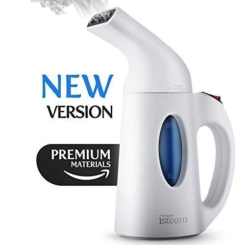 Isteam H106b Steamer for Clothes [2018 Version] 7-in-1 Powerful Multi-Use: Clothes Wrinkle Remover-Clean-Sterilize-Sanitize-Refresh-Treat-Defrost- for Garment/Home/Kitchen/Bathroom/Car/Face/Travel
