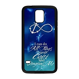 Pop Jesus quote infinity anchor design dandelion Samsung galaxy S5 TPU case by supermalls