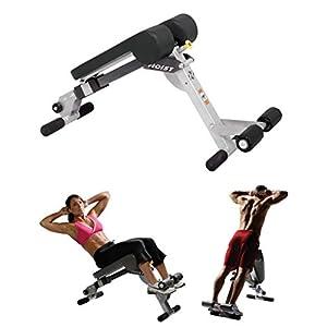 HOIST Fitness HF-4263 Dual Adjustable Ab / Back Hyper Roman Chair Exercise Bench – Platinum