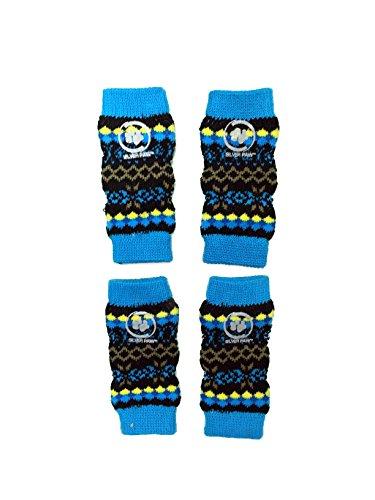 Silver Paw Leg Warmers, X-Large, Dazzling Blue