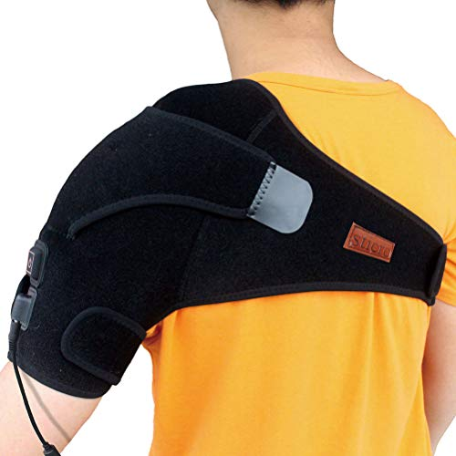 sticro Heated Shoulder Wrap Brace, 3 Heat Settings, Electric Heat Therapy Wrap Heating Pad for Shoulder Muscle Pain Relief, Frozen Shoulder, Bursitis, Tendinitis, Rotator Cuff (Best Pain Medication For Frozen Shoulder)
