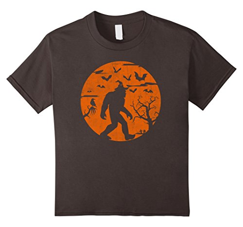 Halloween Sasquatch Costume (Kids Bigfoot Halloween Shirt Human Costume Sasquatch Yeti Gift 8 Asphalt)