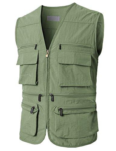 (H2H Mens Lance Bodywarmer/Gilet (Windproof & Showerproof) LIGHTKHAKI US M/Asia L)