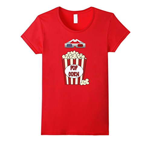 Popcorn Costume Ideas (Women's Popcorn - Funny Last Minute Halloween Costume T-Shirt Medium)