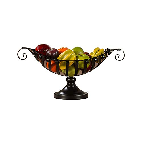 MYXMY Creative Fashion European Fruit Plate Simple Personality Living Room Fruit Storage Basin Snack Tray Storage ()
