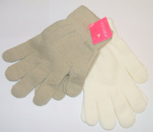 xhilaration-stretch-gloves-2-pair-tan-ivory-one-size-fits-most