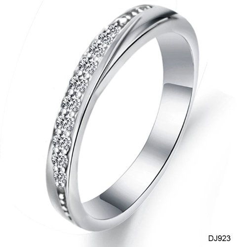 Slyq Jewelry New Elegant White Gold Platinum Plating Wedding Ring Newest Design CZRhinestone Inlaid Nice923
