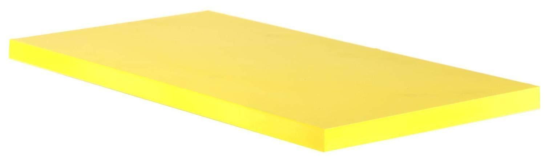 ABS Plastic Bar Stock - Yellow Blocks - 1'' x 12'' x 24'' for Machining by Plasti-Block