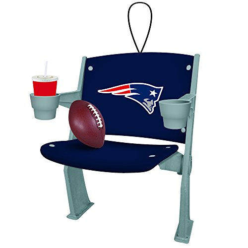 New England Patriots Official NFL 4 inch x 3 inch Stadium Seat Ornament