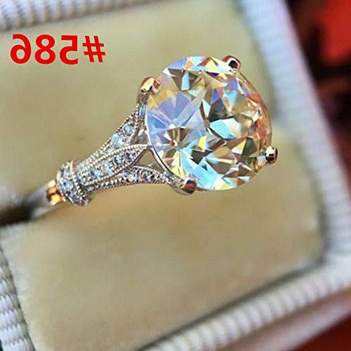 - Endicot Women Engagement Wedding Ring Crystal Rhinestone White Gold Plated Rings Jewelry | Model RNG - 5102 | 7