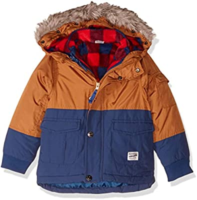 Osh Kosh Little Boys 4-in-1 Heavyweight Systems Jacket Coat 5//6 Grey