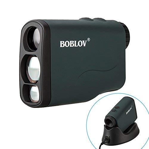 BOBLOV Golf Rangefinder 760Yards Waterproof, 6X Range Finder Hunting Scope Distance Binoculars with Ranging, Scan, Slope, Flagpole Lock, Fog and Speed Measurement Function Support USB Wireless Chargin
