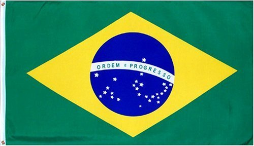 Brazil National Country Flag: 3x5ft poly