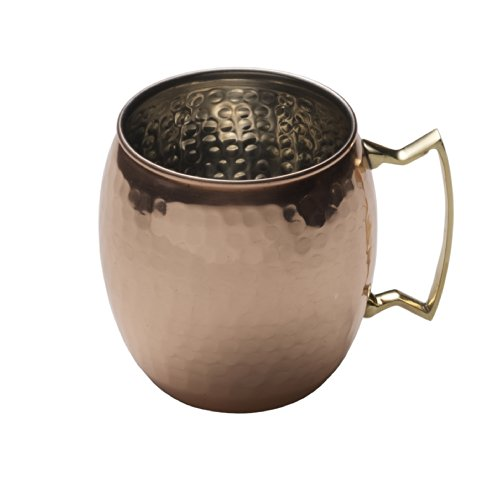 Mikasa Moscow Mule Hammered Copper Barrel Mug with Brass Handle, 16-Ounce  - 5138349 ()