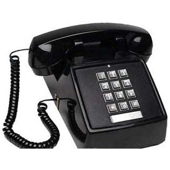 black push button vintage style corded desk telephone unique decorative items. Black Bedroom Furniture Sets. Home Design Ideas