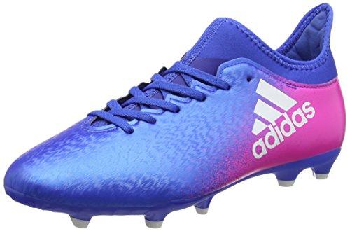 adidas X 16.3 Fg J, Botas de Fútbol para Niños Azul (Blue / Ftwr White / Shock Pink)