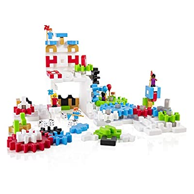 Guidecraft 118 Piece IO Blocks Tabletop Construction Play Set: Toys & Games