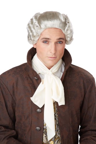 (California Costumes Men's 18Th Century Peruke Wig, Grey, One Size )