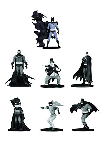 DC Collectibles Batman Black & White Mini Figure 7 Pack Set - Mini Set Collectibles