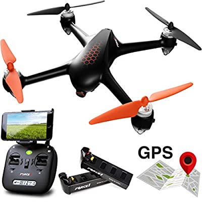 Follow Me Drones with Camera and GPS – MJX Bugs 2 Hex 1080P Selfie Drone w/Return Home, Brushless RC GPS Drone w/Camera for Adults and Beginners by Force1