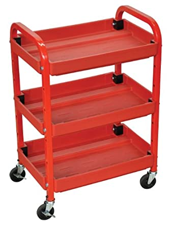 Amazon.com: Luxor atc332 Utility Cart ajustable, 2 estantes ...