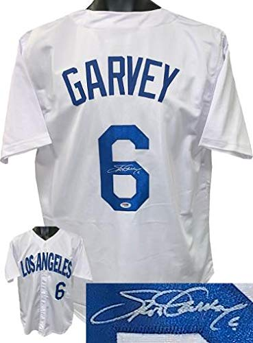 0a8b03a16 Autographed Steve Garvey Jersey - White TB Custom Stitched  6 XL ITP  Hologram - PSA DNA Certified - Autographed MLB Jerseys at Amazon s Sports  Collectibles ...