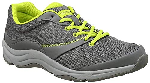 Vionic Women's Action Kona Lace-up Walking Fitness Shoes - Ladies Sneakers with Concealed Orthotic Support Grey 7 M US