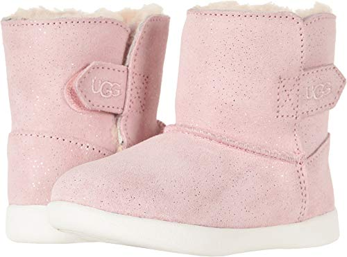 UGG Girls' T Keelan Sparkle Fashion Boot, Baby Pink, 8 M US Toddler