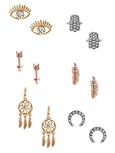 Guess Designer Earrings - GUESS Women's Mixed-Metal Earrings Set