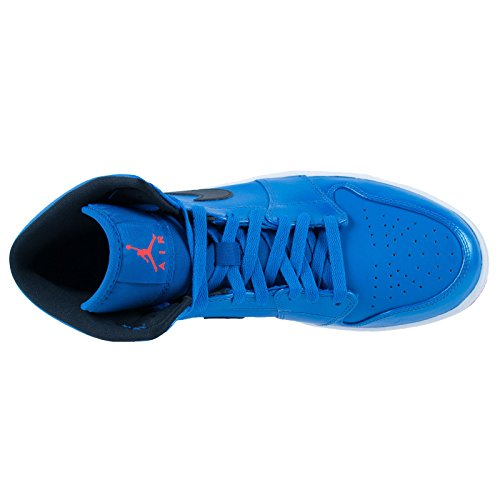 Nike Men's Air Jordan 1 Mid Basketball Shoe Royal Blue/Black/White clearance really nqOFk0XD6