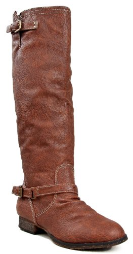 Breckelle's Outlaw 81 Women's Riding Boots Knee High Faux Leather