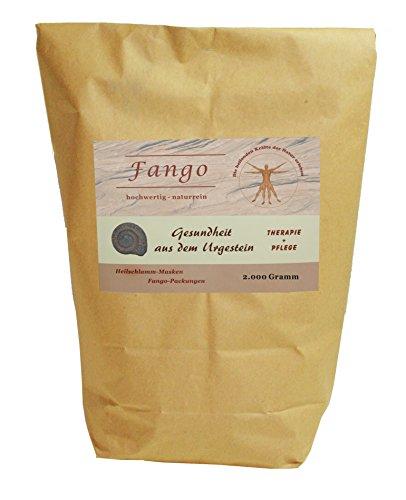 Reinster NATUR FANGO im Beutel 2kg - für die Heilschlammanwendung, Fangopackungen, zur Therapie, für Heilschlamm-Masken, zur Kosmetik