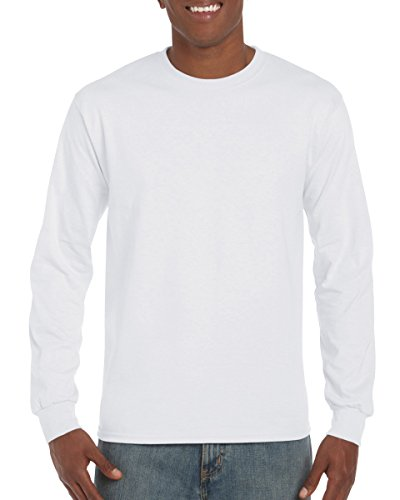 Gildan 6.1 oz Ultra Cotton Long-Sleeve T-shirt G240, White, - Sweatshirt Long Cotton Sleeve