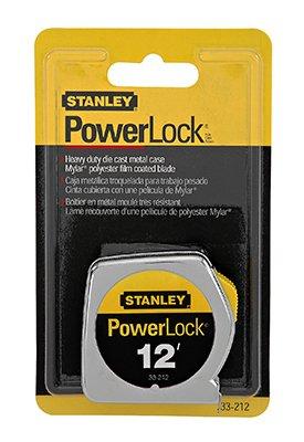 - Stanley Hand Tools 33-212 12' PowerLock Tape Measure With Stud Markings Every 16