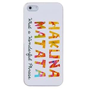 CL - Caso Hakuna Matata de silicona para el iPhone 5/5S