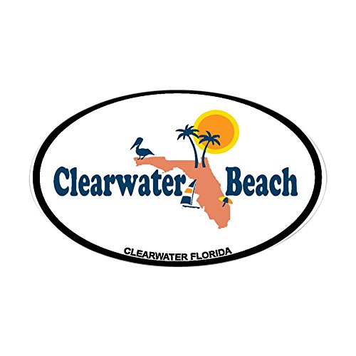 CafePress - Clearwater FL - Map Design. Sticker (Oval) - Oval Bumper Sticker, Euro Oval Car - Clearwater Fl Fit You