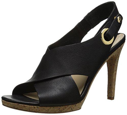 Via Spiga onitta vestido sandalias de la mujer negro