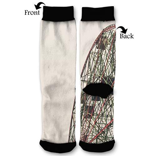 Fashion Travel Breathable Socks Ferris Wheel Coney Island Vintage Theme Parks Men & Women Running Casual -