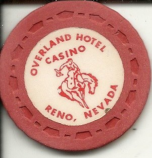 ($ no cash value overland hotel reno nevada casino chip)