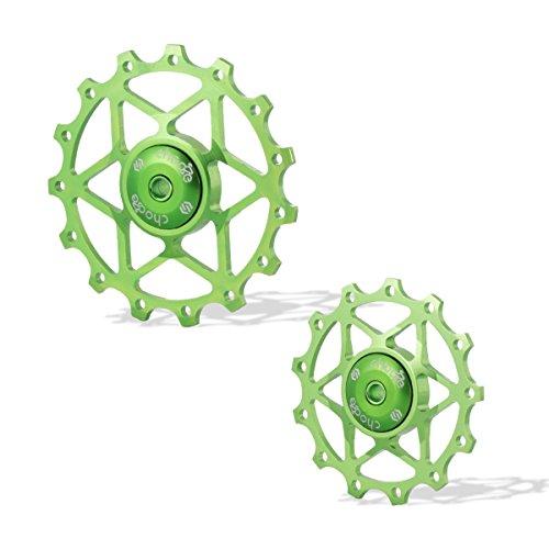 Chooee Green 13T Rear Derailleur Jockey Wheel Pulley Shimano SRAM
