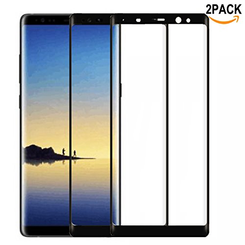 Galaxy Note 8 Screen Protector [2 Pack],Berry Accessory(TM) Full Screen Coverage 9H Hardness Tempered Glass HD Screen Protector Film for Samsung Galaxy Note 8