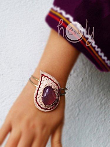 Handmade Healer's Amethyst Gemstone Leather Bracelet