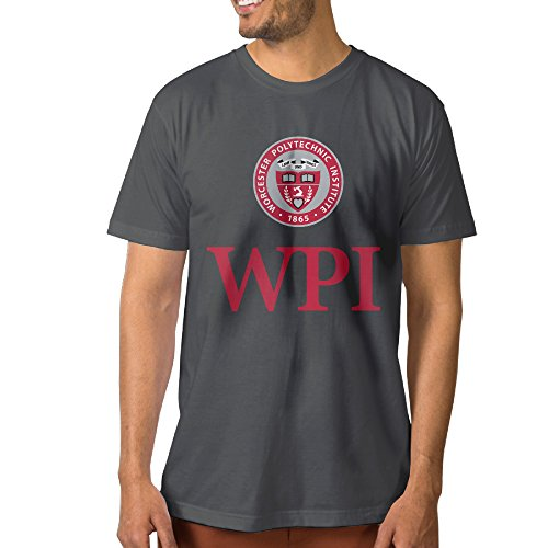 NCKG Men's Worcester WPI Logo Polytechnic Institute Short Sleeve Tshirti, Color DeepHeatherSize S (Halloween In Worcester)