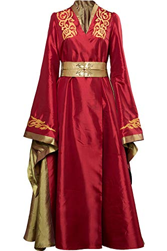 Cosplaysky Game of Thrones Costume Cersei Lannister Red Dress Small -
