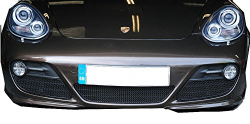 Porsche Cayman 987.2 - Front Grille Set (manual and pdk) - Black finish (2009 - (Zunsport Grilles)