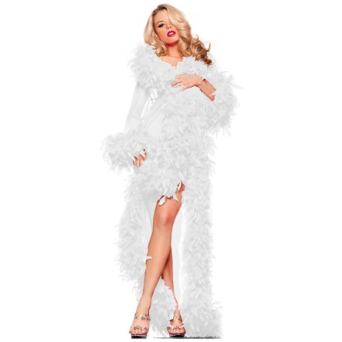 Be Wicked Glamour Robe Adult Lingerie White - One Size]()