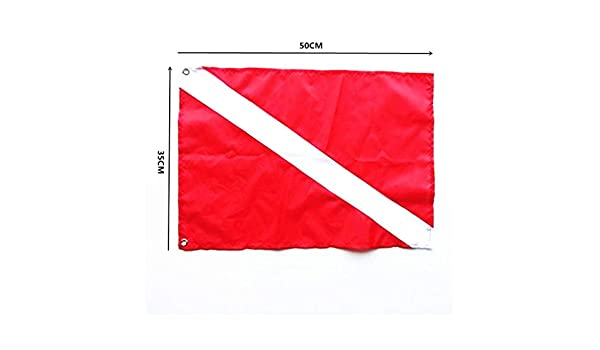 BestMall - Bandera de Buceo (2 Unidades, Nailon), Color Rojo y Azul: Amazon.es: Deportes y aire libre