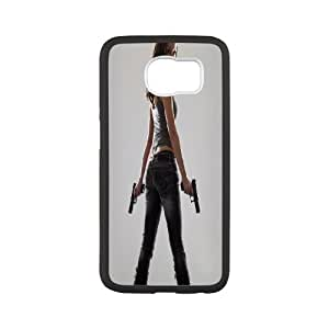 Custom Case Woman With Gun for Samsung Galaxy S6 Y9K3733345